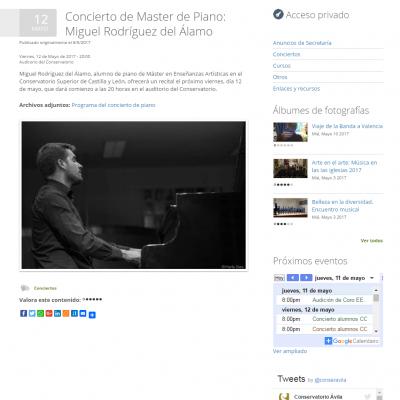 Conservatorio profesional de música Tomás Luis de Victoria de Ávila (Portfolio 3)